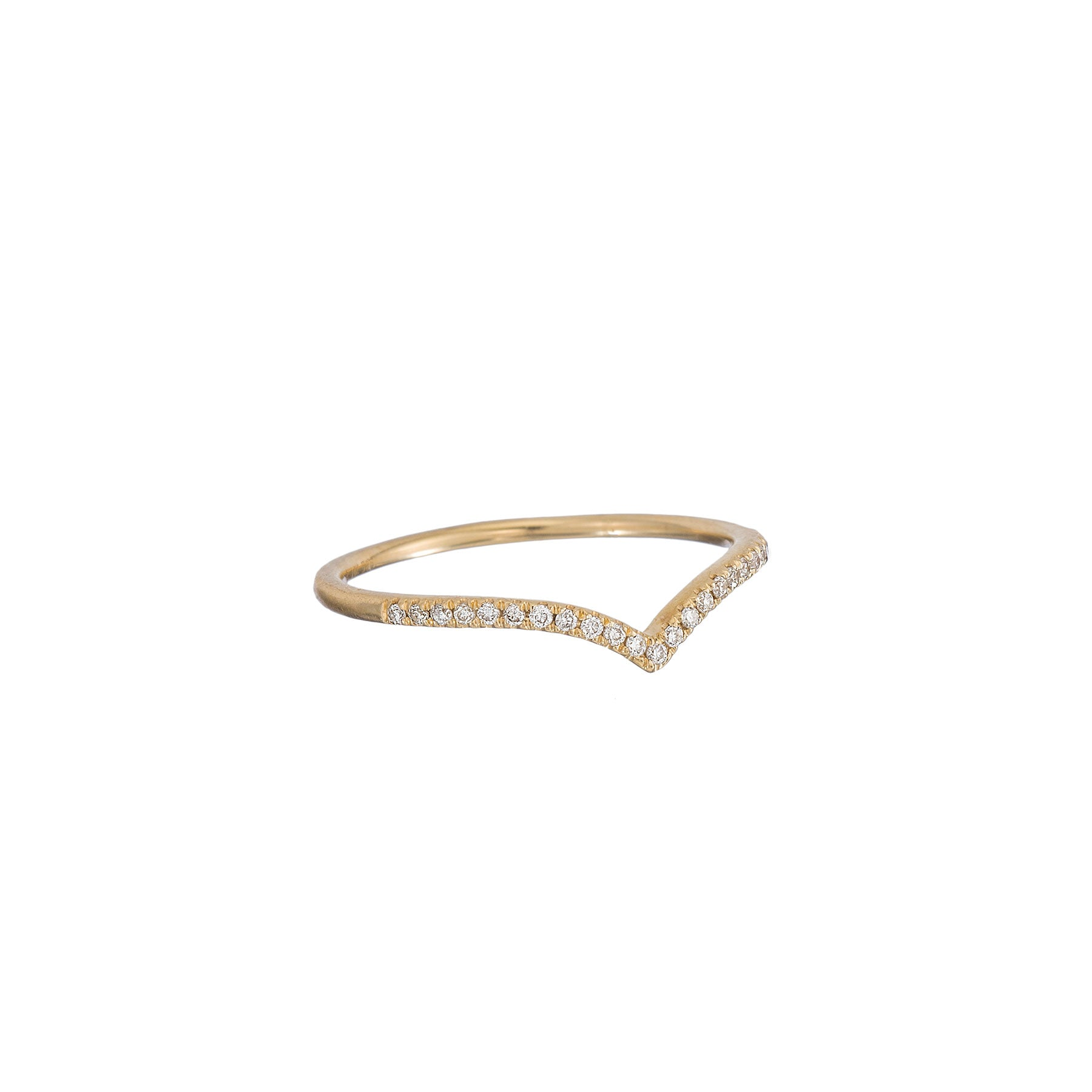 Diamond Pave Chevron Ring