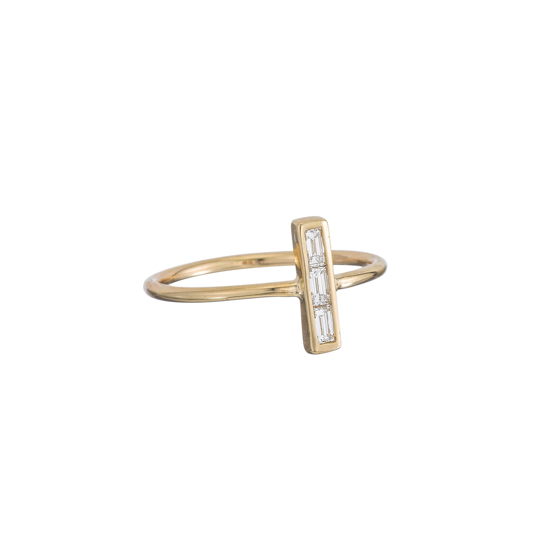Baguette Up Bar Ring