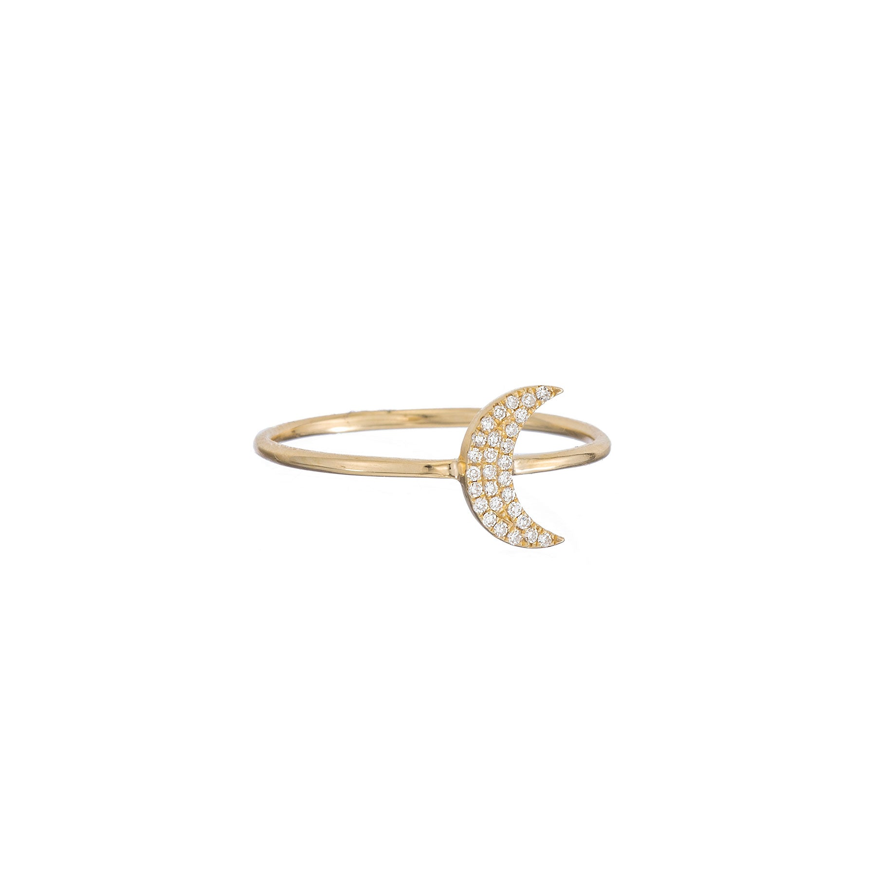 Pave Moon Thin Band