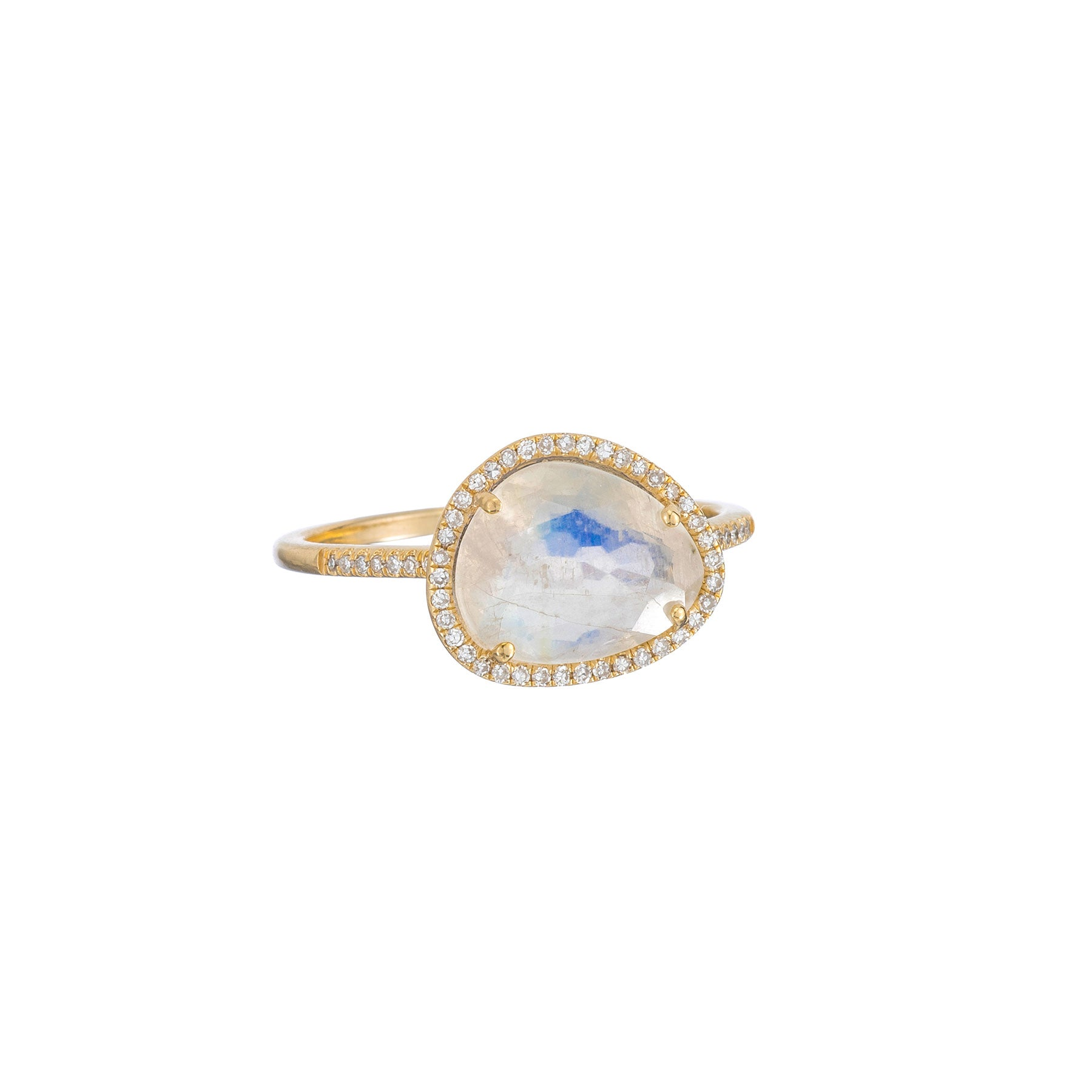 Organic Moonstone Diamond Ring