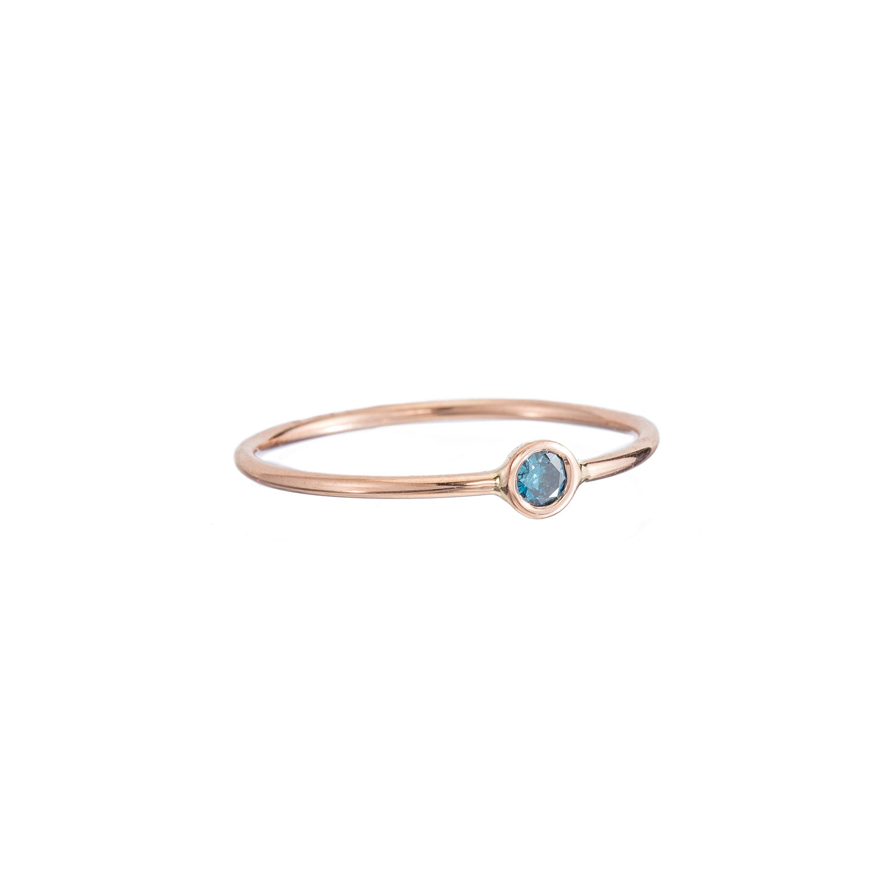 Blue Diamond Bezel Thin Band