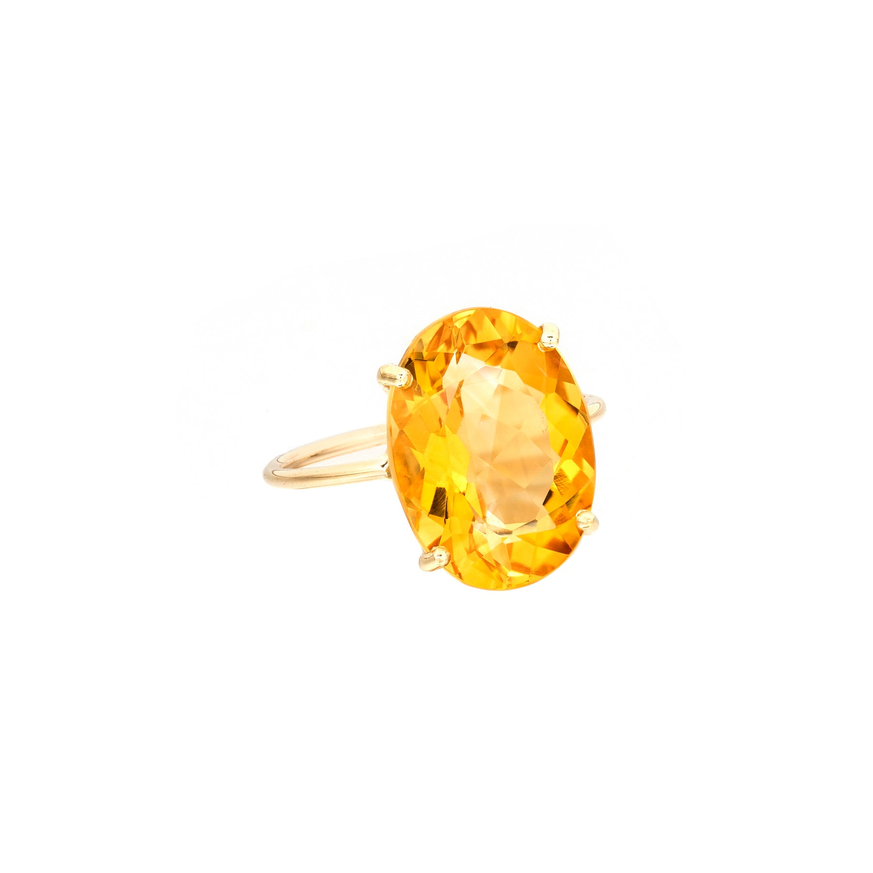 Citrine Oval Gem Candy Ring
