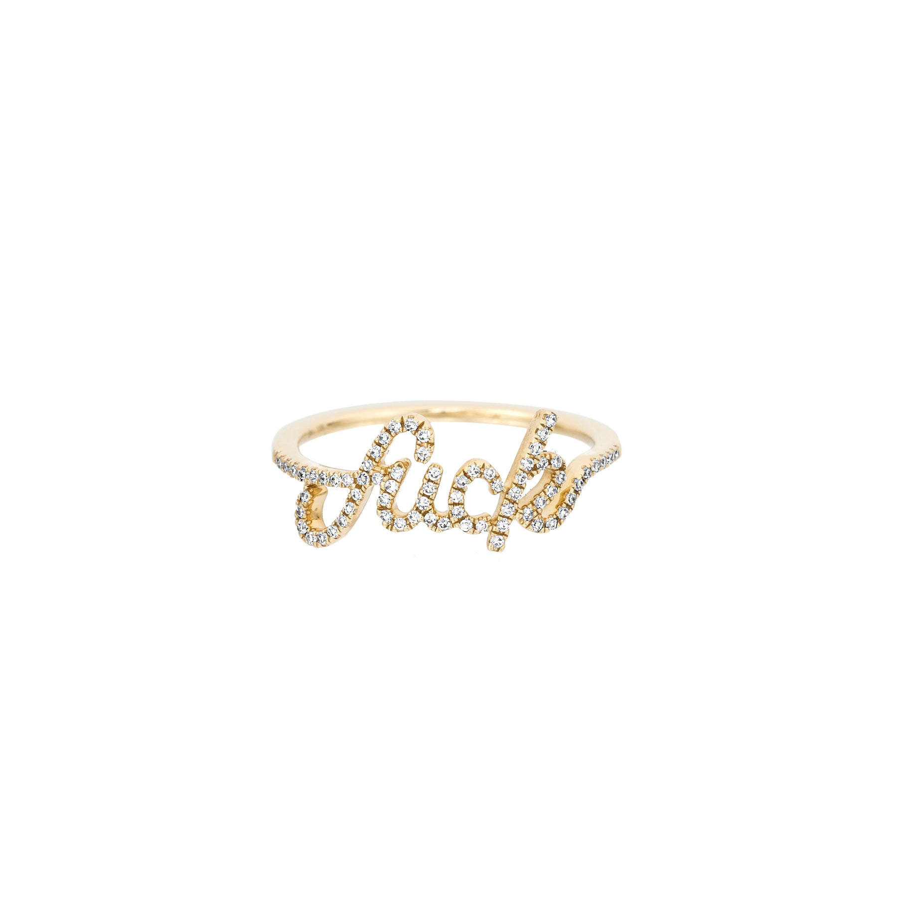 Diamond Cursive Fuck Ring