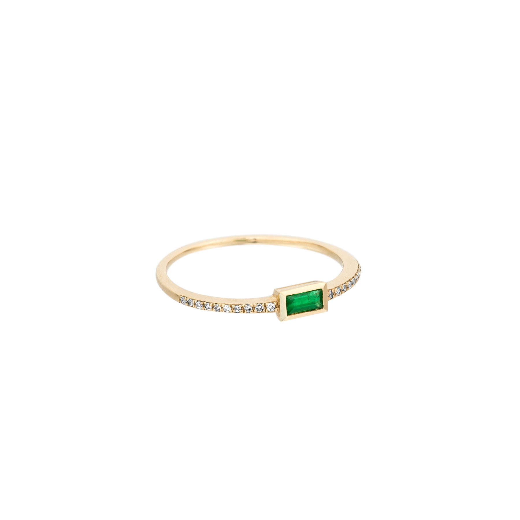 Emerald Baguette Diamond Stacker