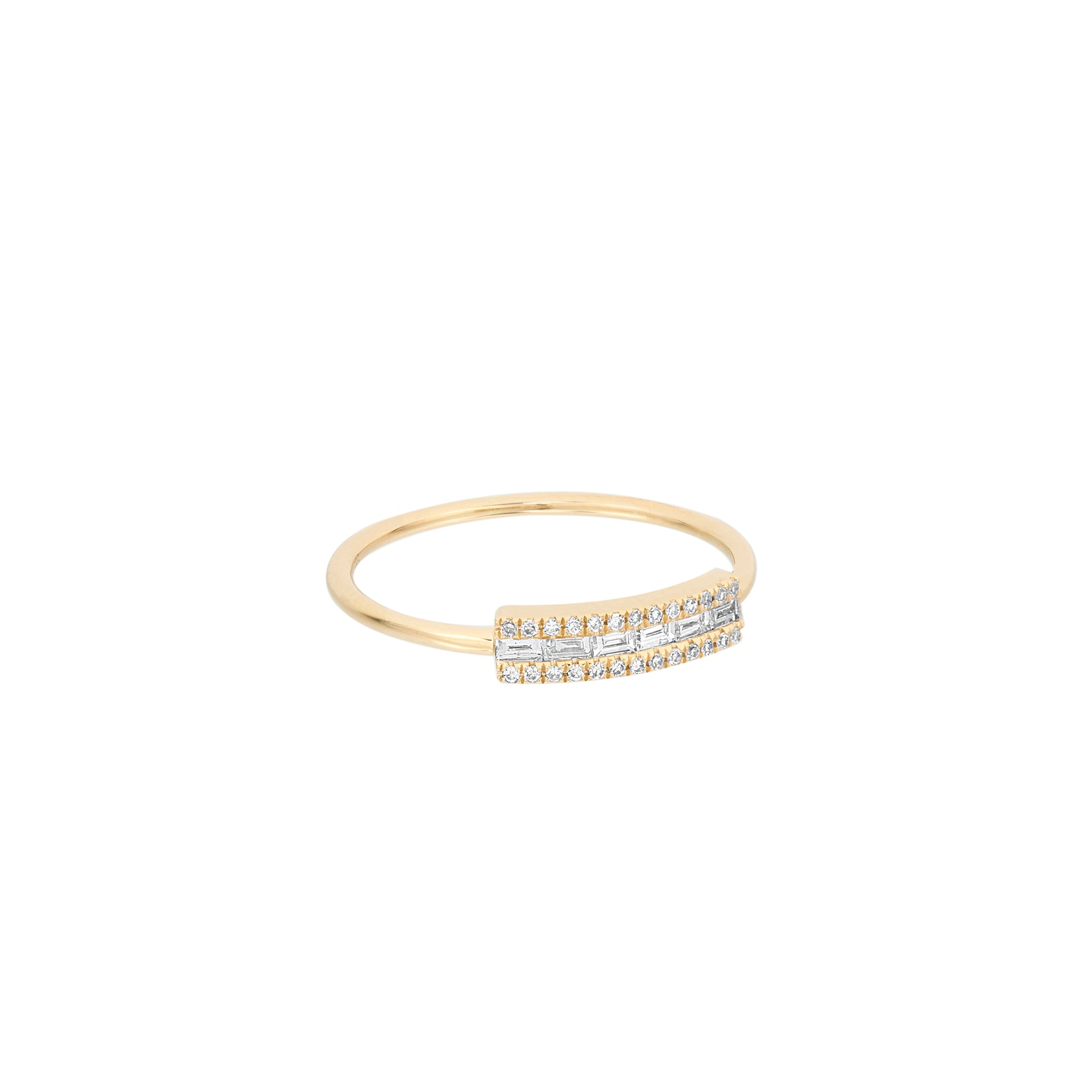 Side Baguette Diamond Ring