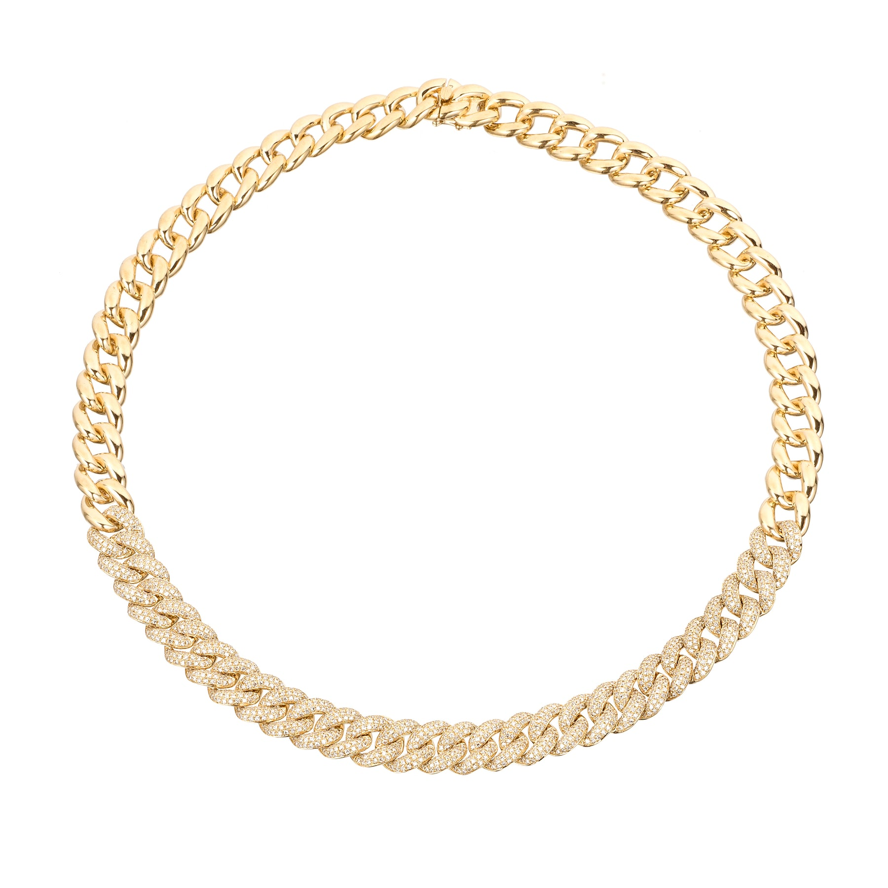 Thick Pave Chain Link Necklace