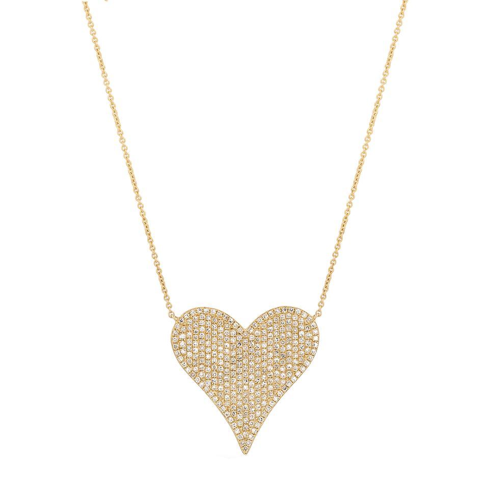 Big Heart Pave Diamond Necklace