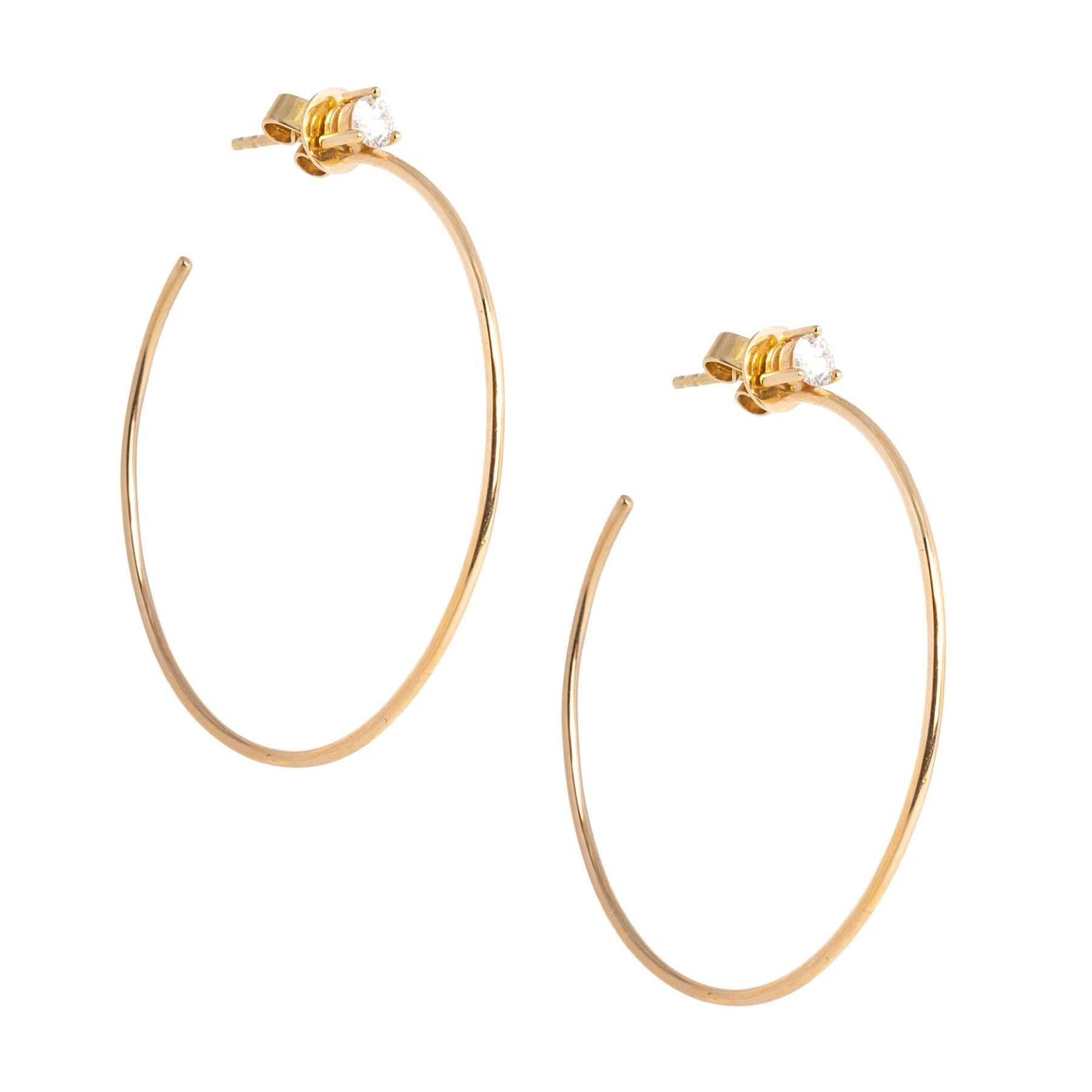 Diamond Stud Hoops