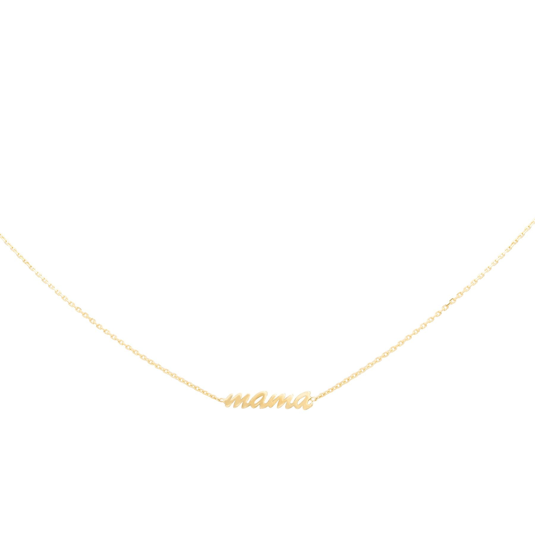 Tiny Plain Gold Adjustable Mama Necklace