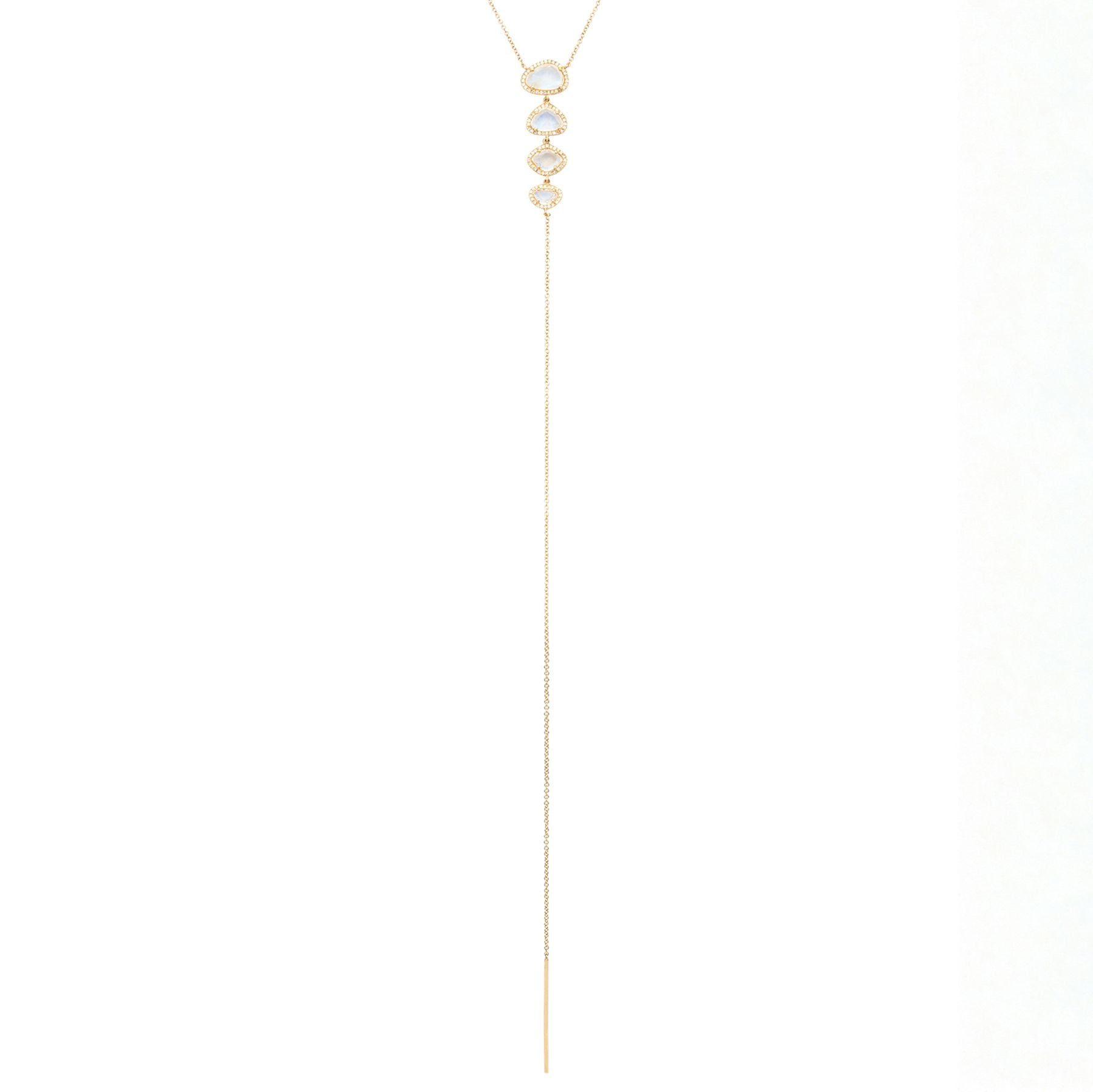 4 Moonstone Drop Lariat