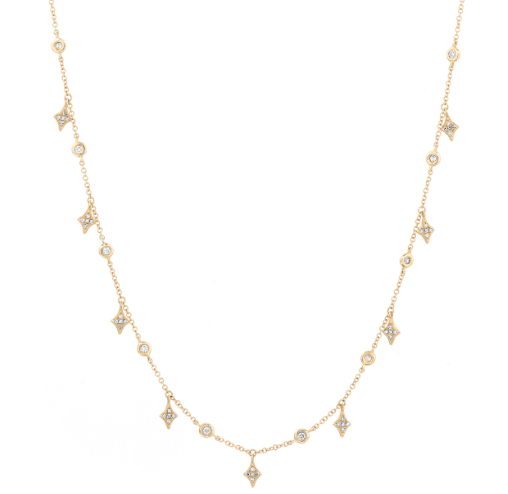 Diamond Shape Shaker Necklace