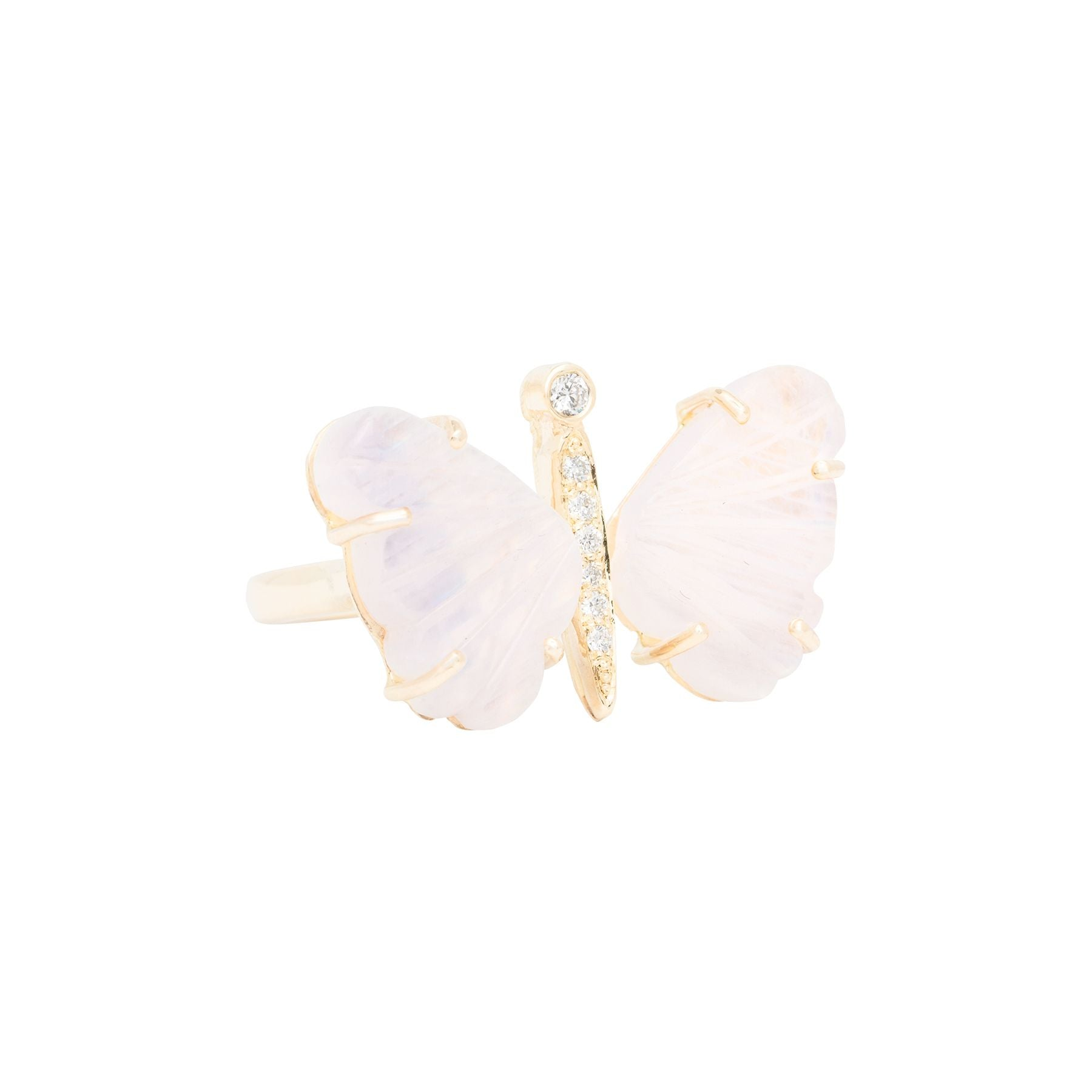 Small Moonstone Butterfly Ring