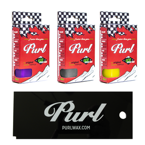 "Purl Wax ""Spring"" 3 Pack- Spring Ski Wax & Spring Snowboard Wax"