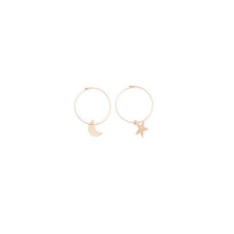 moon & star hoops