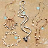 knotted pearls & tassel