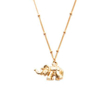 mini gold elephant