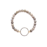 diamond large open circle bracelet