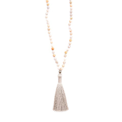 Fossil Coral, Pyrite & Silky Tassel