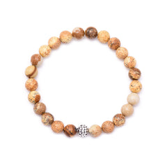 men's circles bead & picture jasper