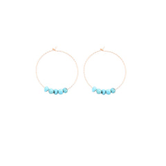faceted hoops w/ Turquoise or Opal