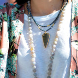 knotted matte agate & tassel
