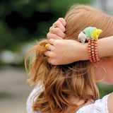 rose wood tassel bracelet