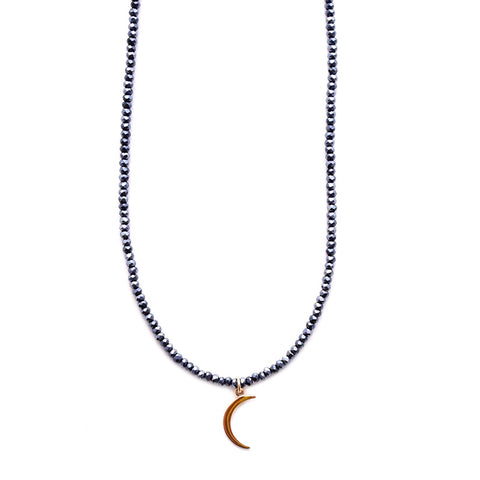 beaded mini moon