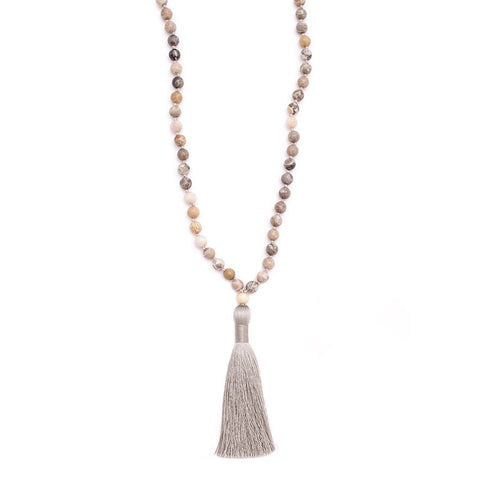 fossil coral & silky tassel