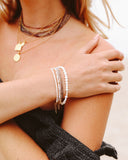 White Rice Pearls Layering Bracelet