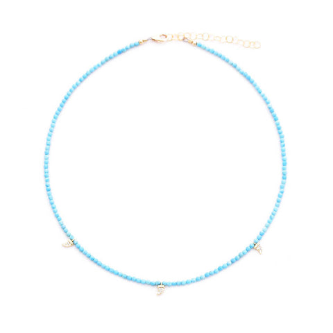 turquoise & pave tusk drops