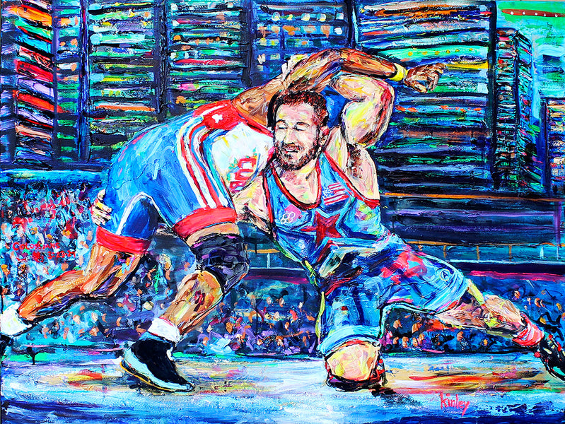 NCAA Wrestling/Rudis Collaboration: Painting with Kyle Snyder and Team USA