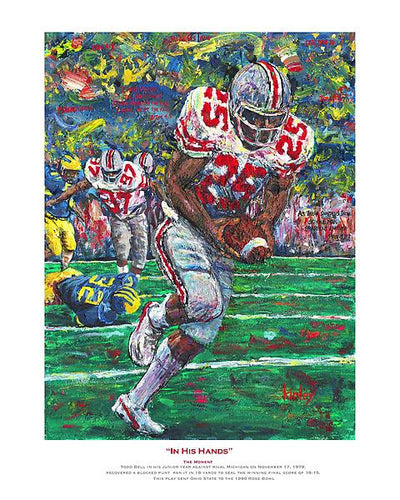 In His Hands depicting OSU's Todd Bell