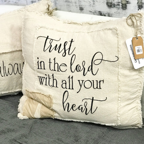 TRUST IN THE LORD PATCHWORK PILLOW