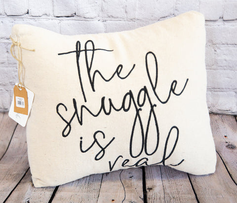 DECORATIVE THROW PILLOW - THE SNUGGLE IS REAL