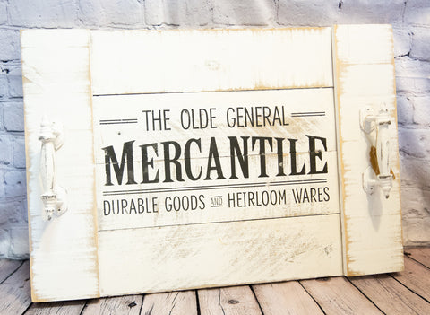 """MERCANTILE"" VINTAGE-STYLE SIGN TRAY"