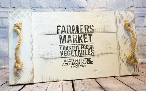 "LARGE ""FARMERS MARKET"" TRAY"
