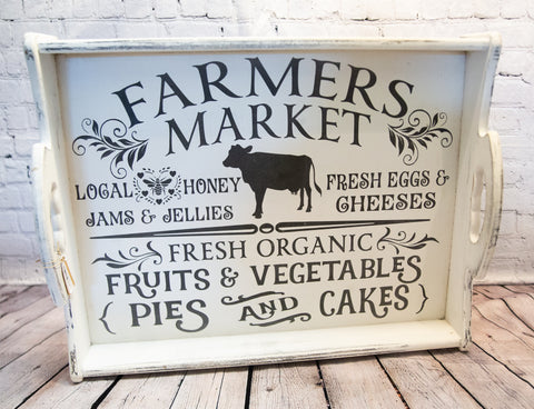 """FARMERS MARKET"" TRAY"