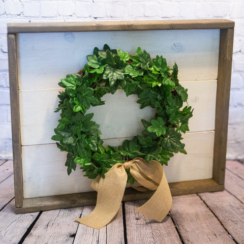 FRAMED WREATH ART