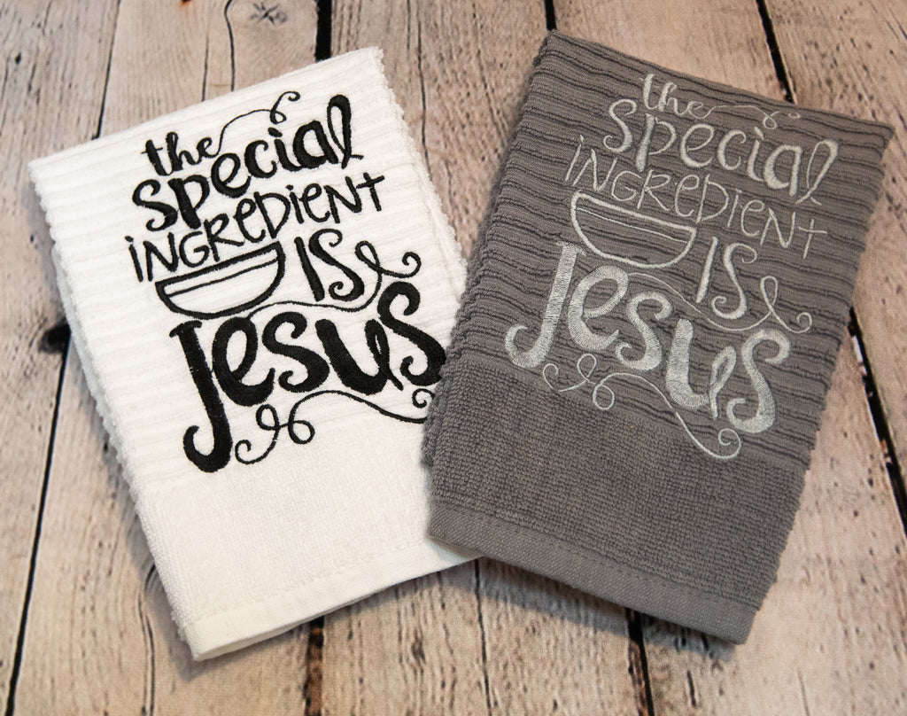 THE SPECIAL INGREDIENT IS JESUS KITCHEN TOWEL