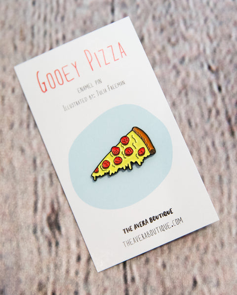 Gooey Pizza Solf Enamel Pin