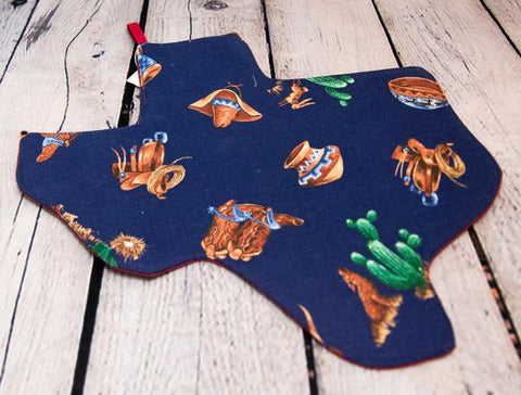 TEXAS SHAPED POT HOLDER/TRIVET