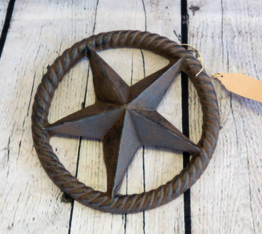 CAST IRON ROPE RINGED TEXAS STAR