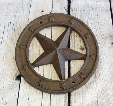 CAST IRON STAR RINGED TEXAS STAR