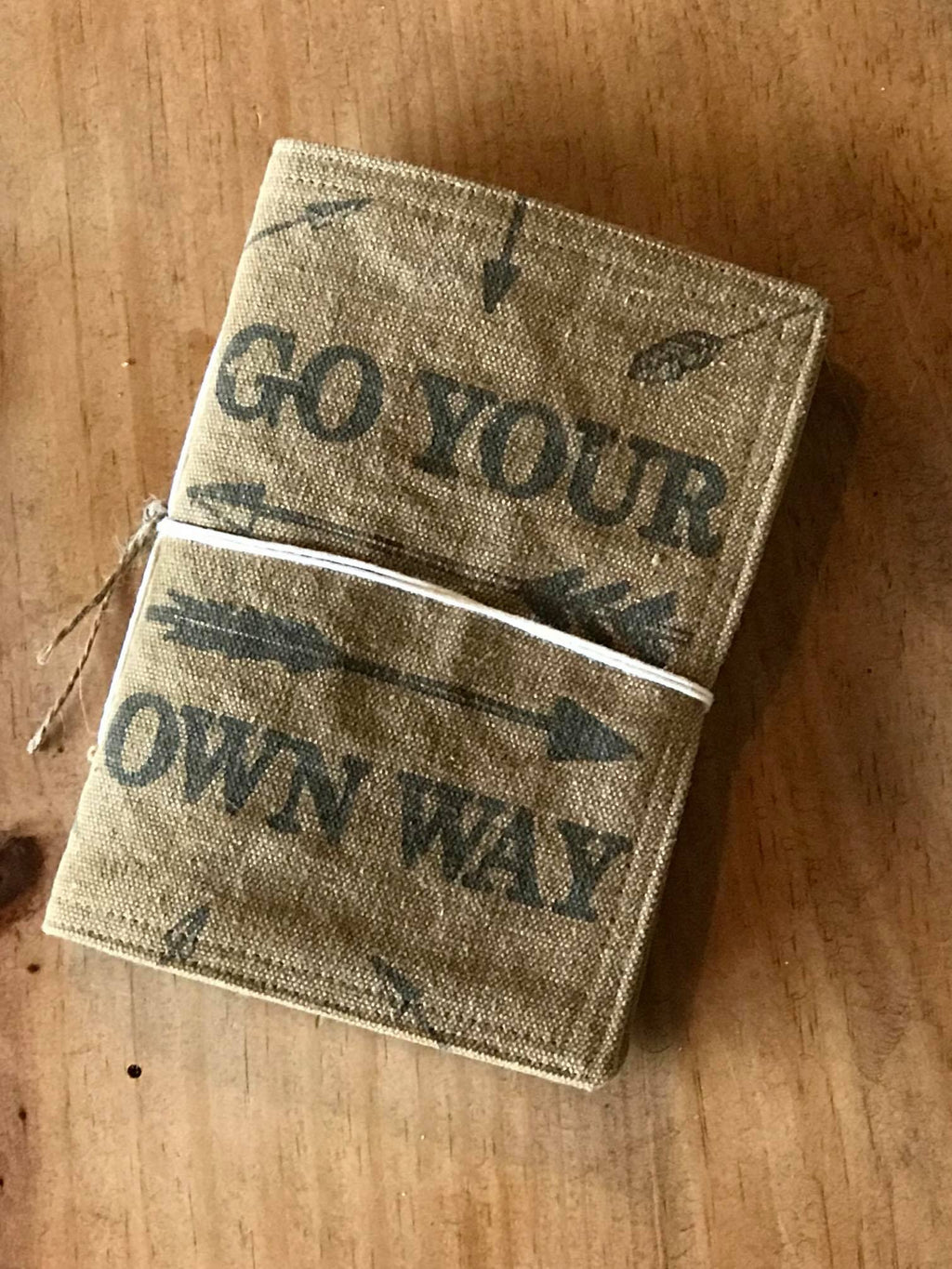 GO YOUR OWN WAY CANVAS NOTEBOOK