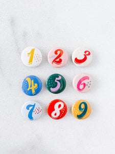 Enneagram Buttons, Pack of 9