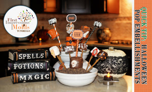 Halloween Marshmallow Pops Embellishments Tutorial
