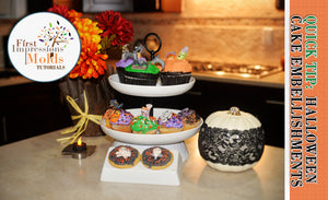 Easy Halloween or Fall Themed Cookie and Cupcake Decorations