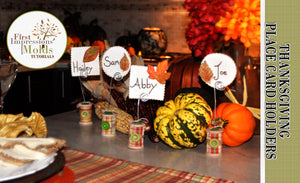 Fun Handmade Place Cards Thanksgiving Fall Edition