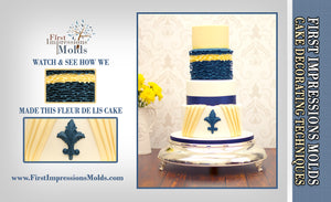 Cake Decorating Fleur De Lis, Ruffles and Pleats Tutorial