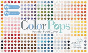 Introduction to ColorPops Powder Food Coloring